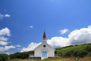 角島 映画「4日間の奇蹟」のロケセット(礼拝堂)