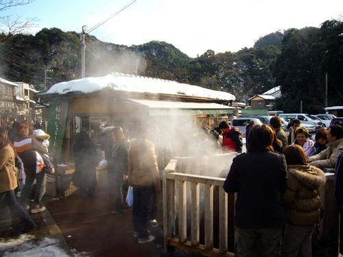 城崎温泉の元湯(薬師寺ポケットパーク)