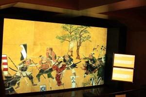 大阪夏の陣図屏風の世界を映像で紹介