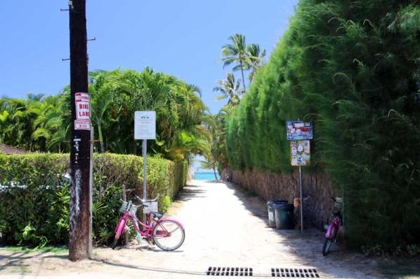 ラニカイビーチ5番の小道
