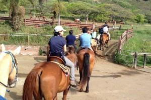 クアロア牧場で初めての乗馬
