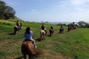クアロアランチの乗馬 草原に出ると気持ちいい~