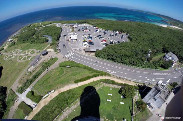角島灯台の踊り場(見晴らし台)から360°見渡すことができます