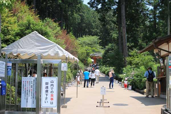 三室戸寺の入口