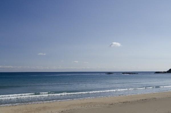 宮崎 日南海岸の穏やかな海岸線