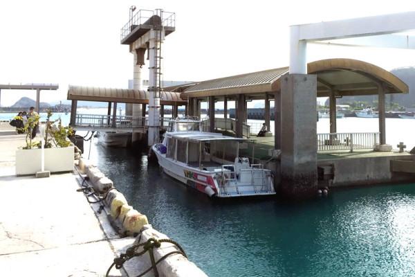 内航船『みつしま』で渡嘉敷島から座間味島へ