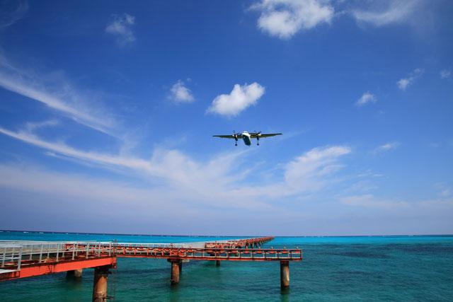宮古島 下地島空港17ENDで宮古ブルーの海を満喫!SUP、シュノーケリング、小型機の飛行訓練も