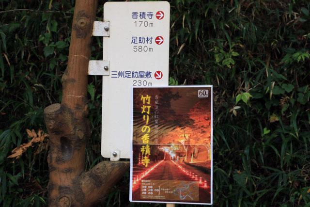 香嵐渓の紅葉ライトアップ 竹灯り