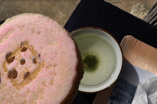 北野天満宮 梅苑の茶屋のお菓子とお茶