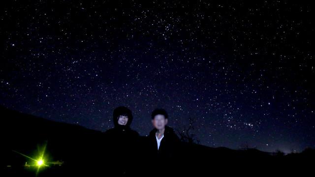 ハワイ島 マウナケア山麓で星空観察