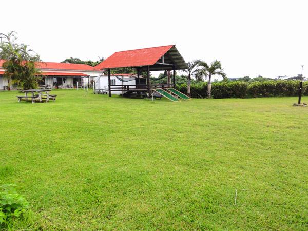 民宿マリウド(西表島)の裏庭のハンモック
