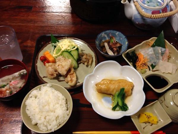 民宿マリウド(西表島)の夕食