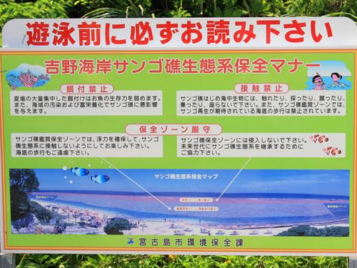 吉野海岸サンゴ生態系保全マナー