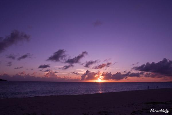 与那覇前浜ビーチの夕暮れ 宮古島の観光スポット