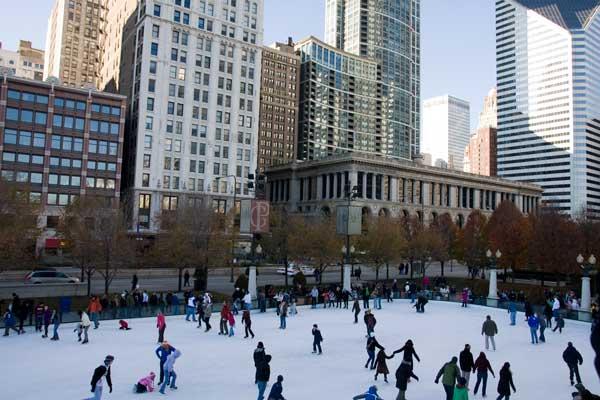 ミレニアム・パーク (Millennium Park)のアイススケート